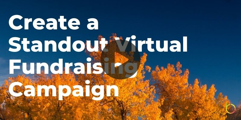 Standout Virtual Fundraising Campaign