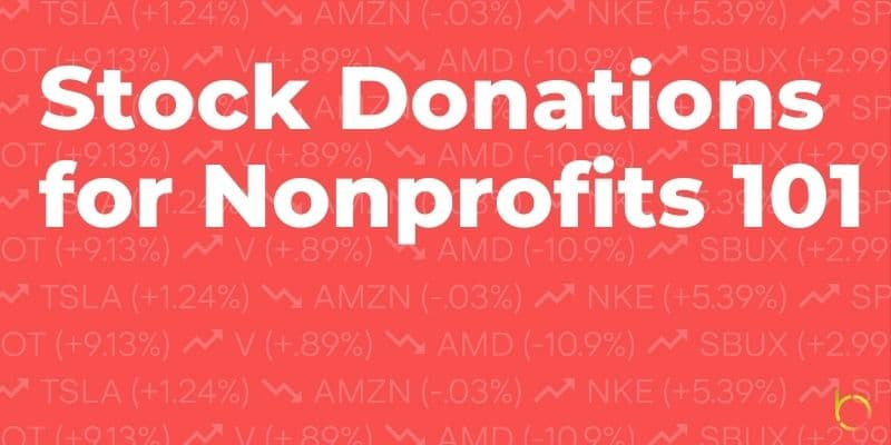 Stock Donations for Nonprofits 101